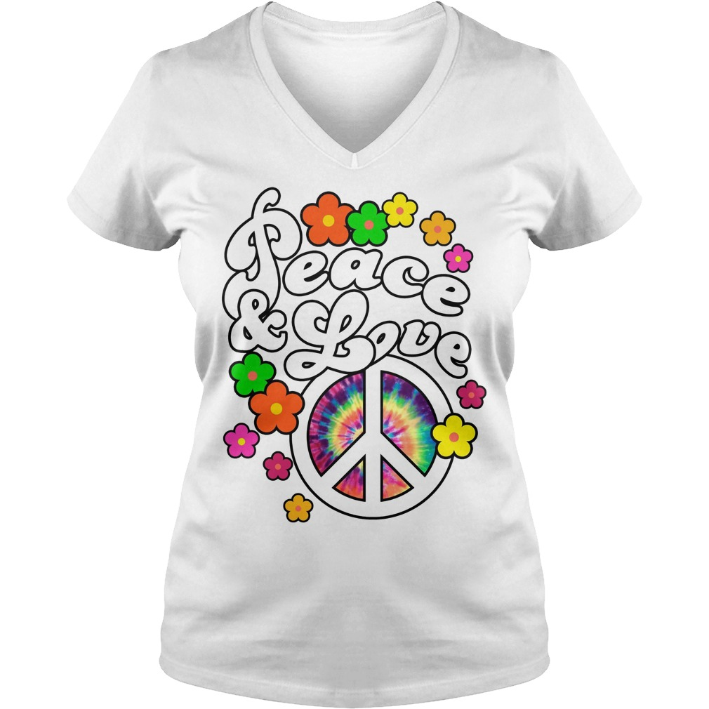Peace And Love Tie Dye Peace V Neck