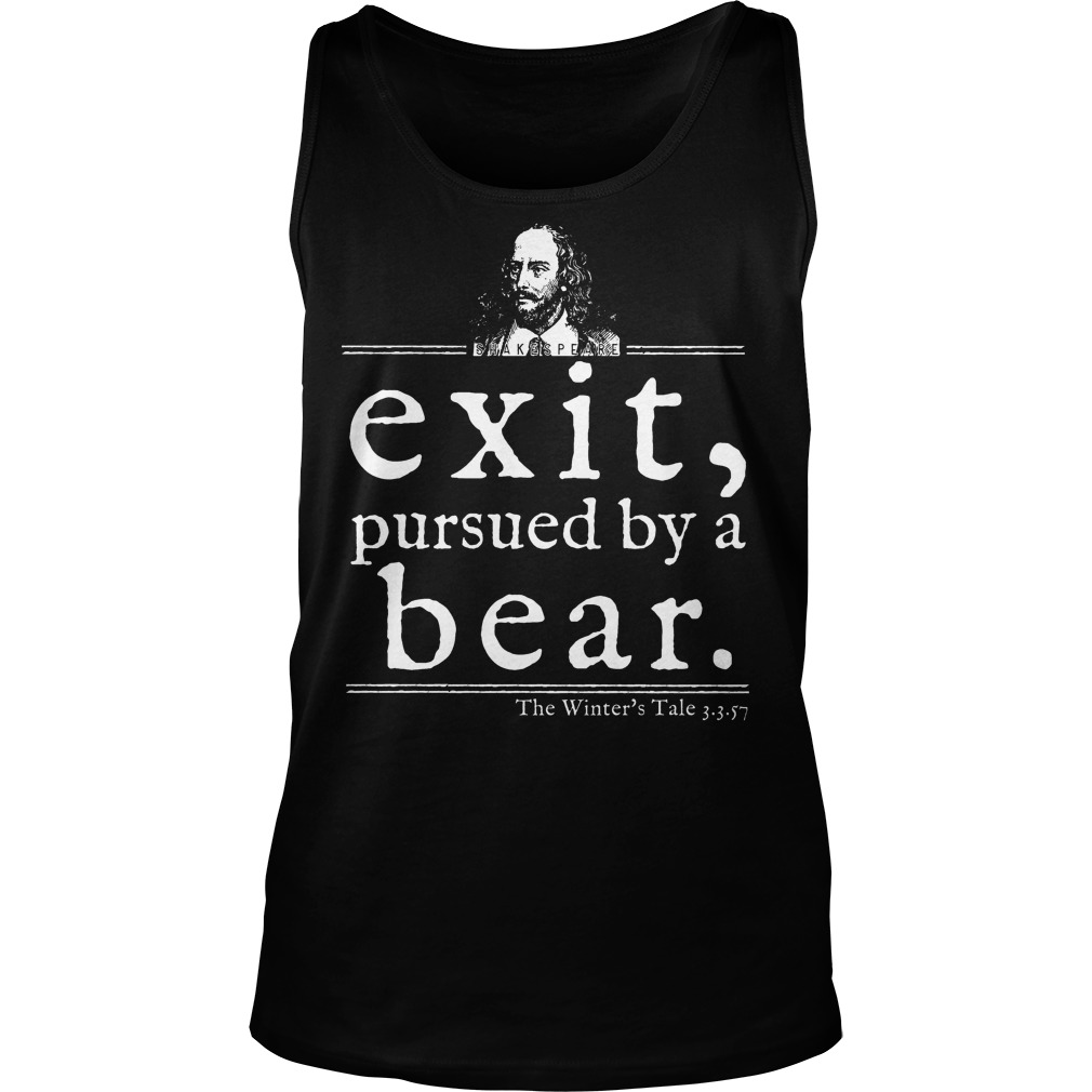 Shakespeare Exit Pursued By A Bear Tanktop