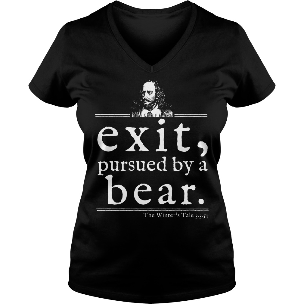 Shakespeare Exit Pursued By A Bear V Neck