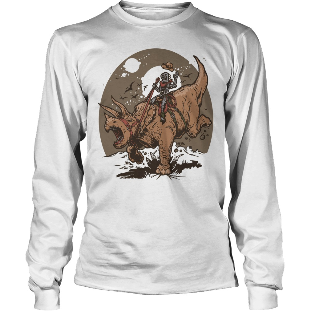 Triceratops Cowbot Dinosaur Trex Longsleeve