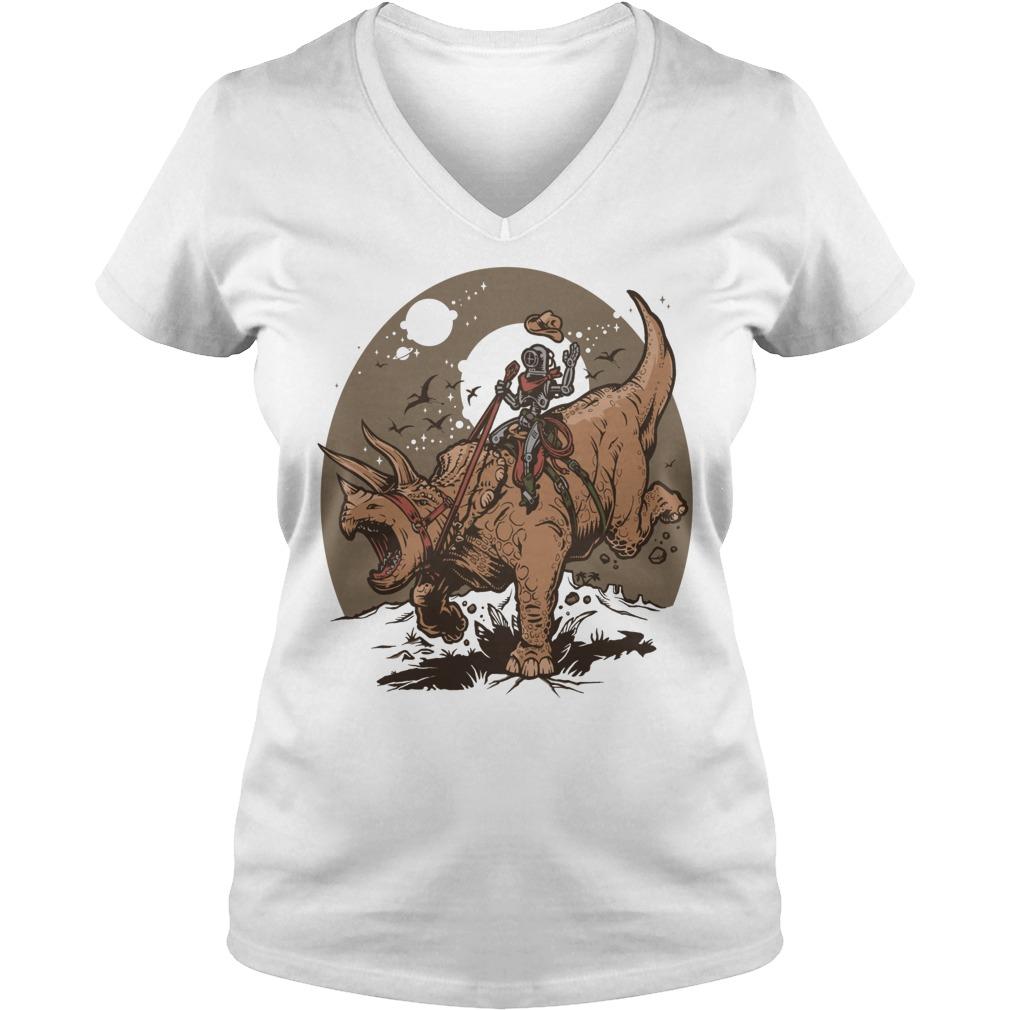 Triceratops Cowbot Dinosaur Trex V Neck