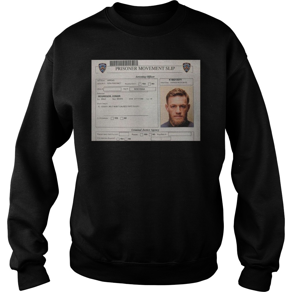 Conor Mcgregor Mugshot Sweater