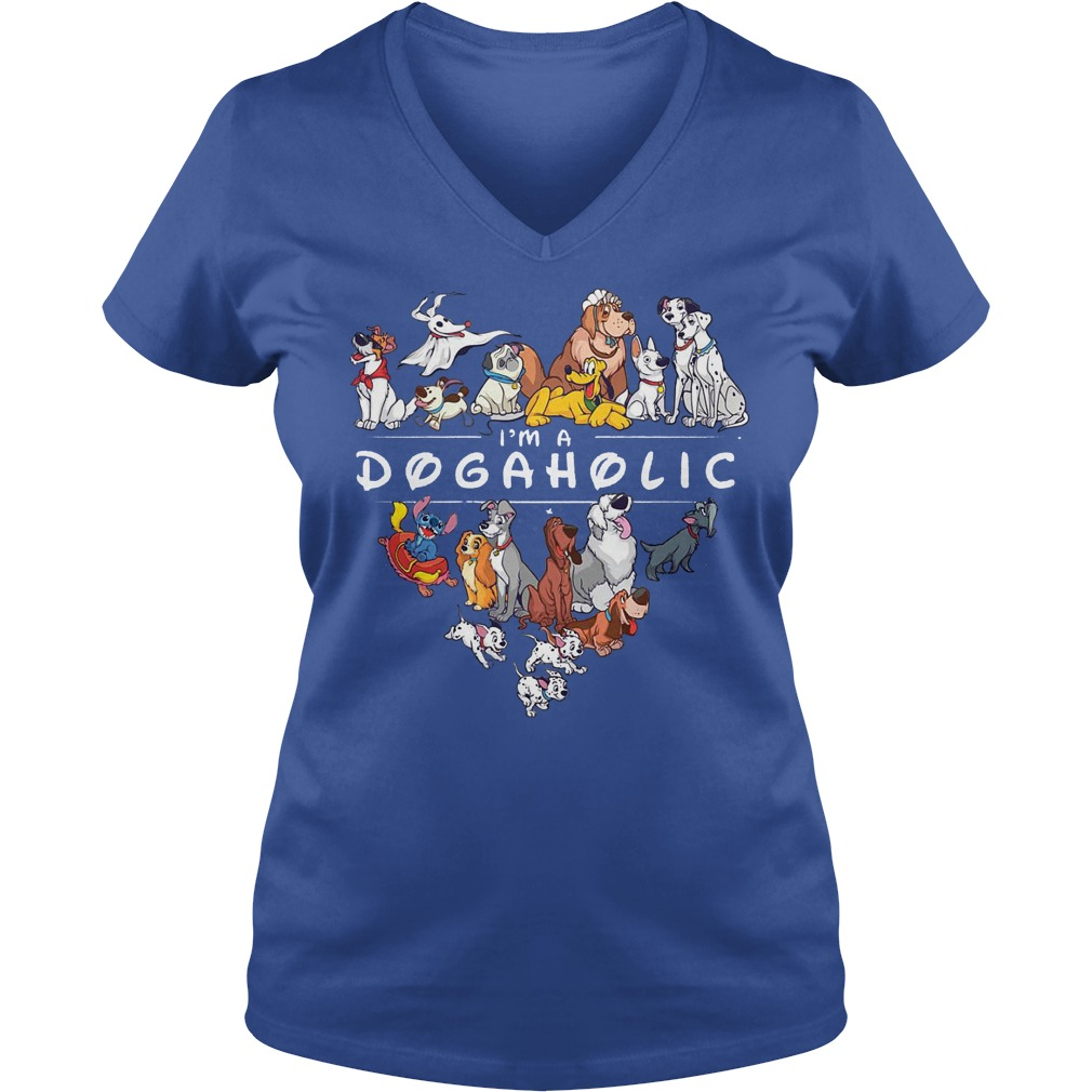 Disney I'm A Dogaholic Dog Aholic V Neck