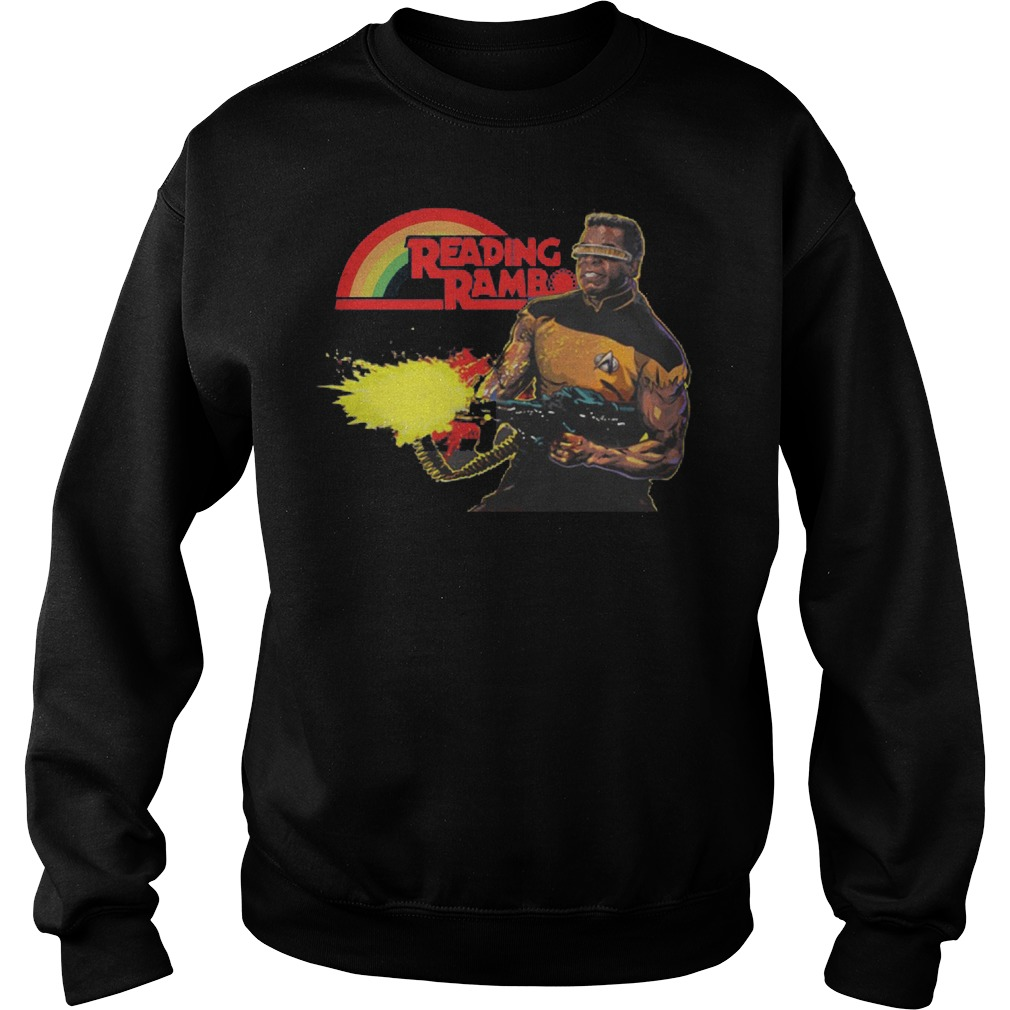 Geordi La Forge Reading Rainbow Sweater