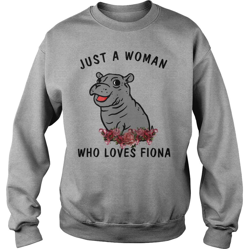 Hippo Just A Woman Who Loves Fiona Sweater