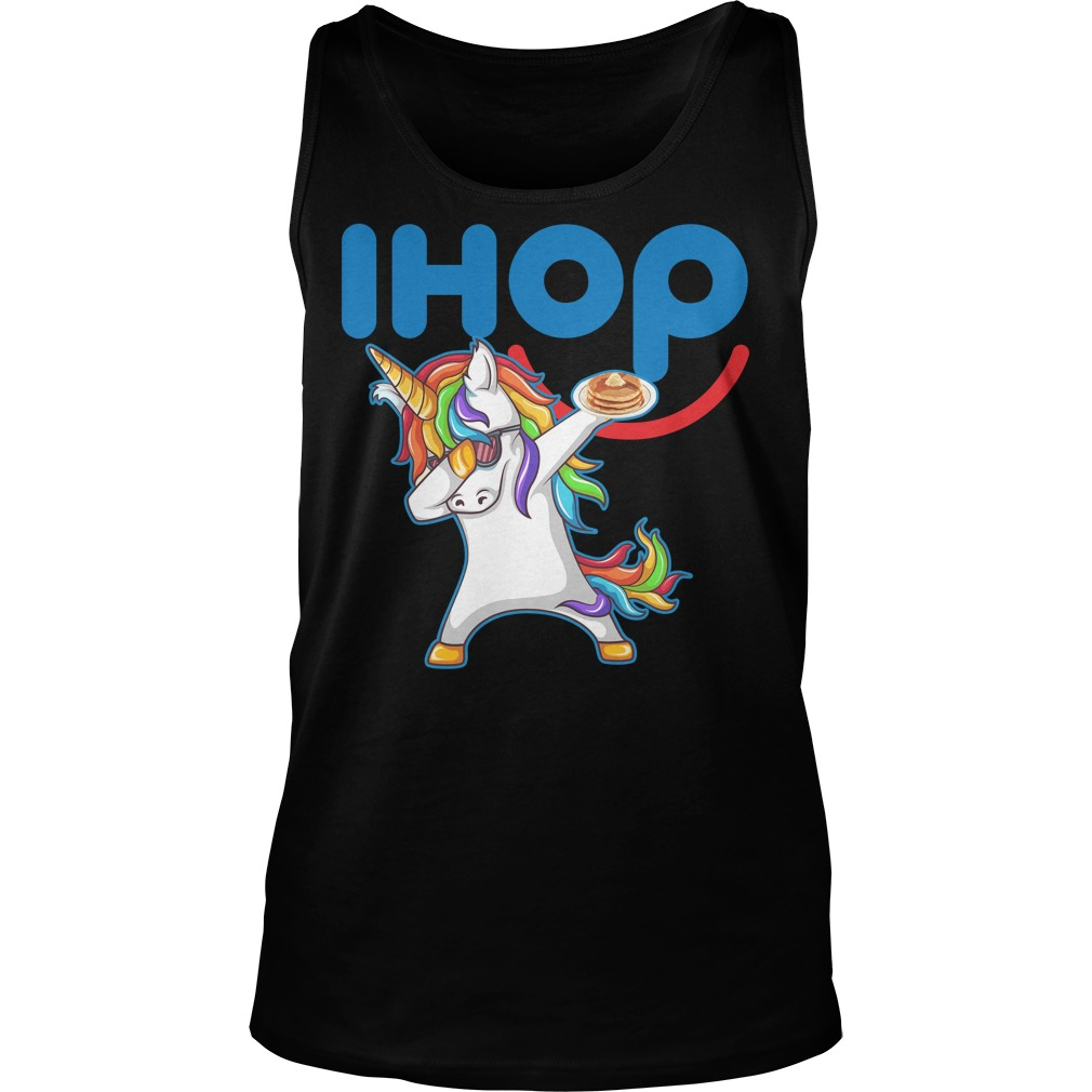 Ihop Unicorn Dabbing With Cake Tanktop