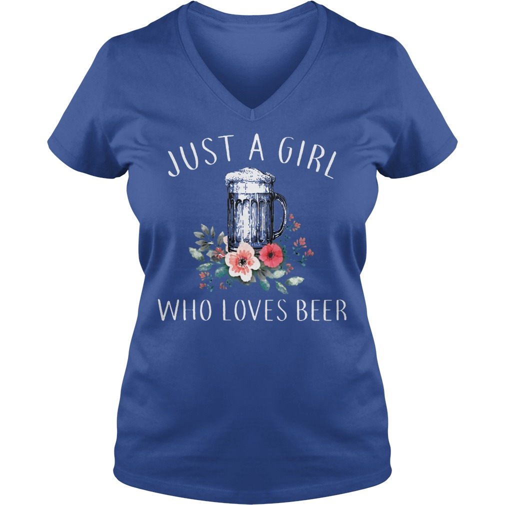 Just A Girl Who Love Beer V Neck