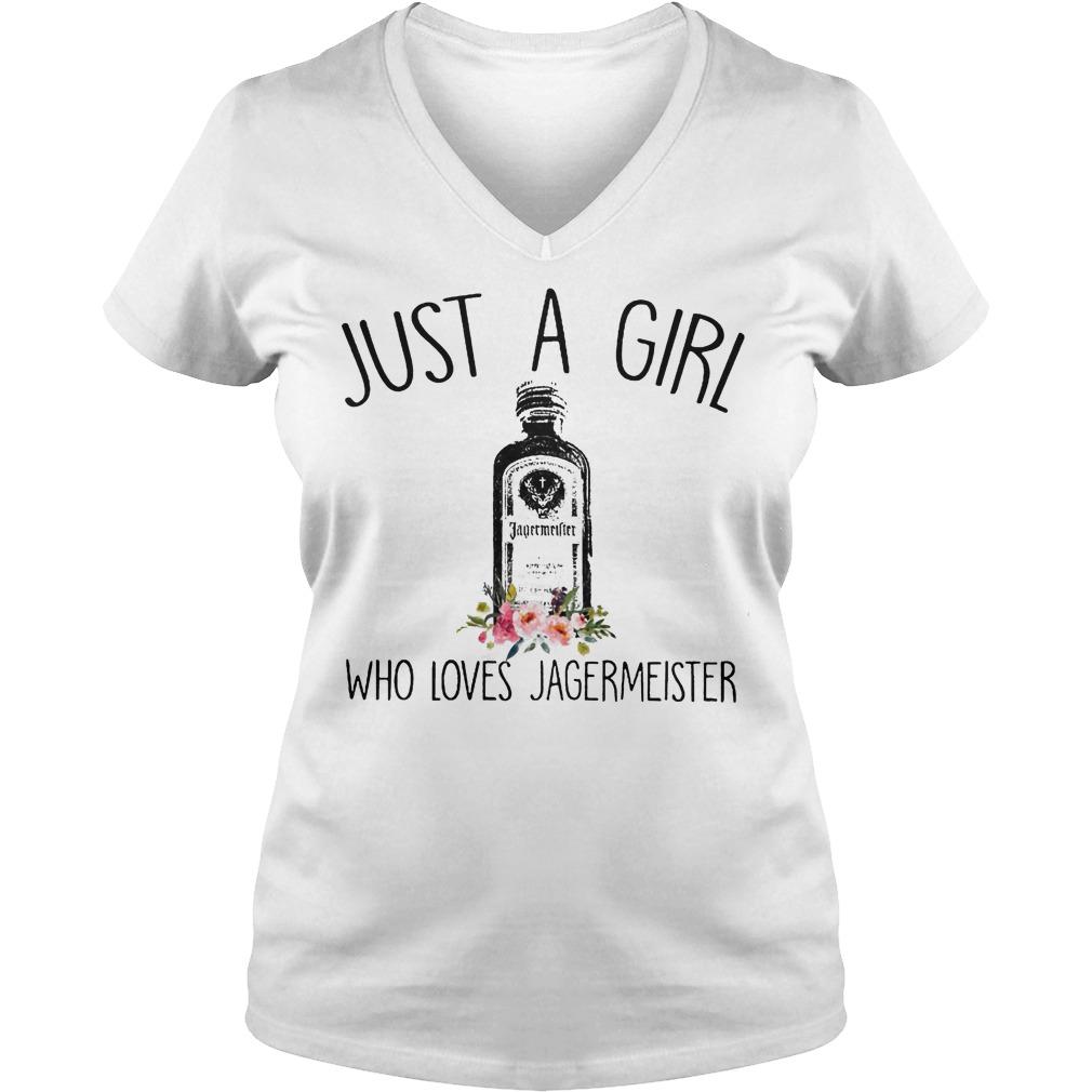 Just A Girl Who Loves Jagermeister V Neck
