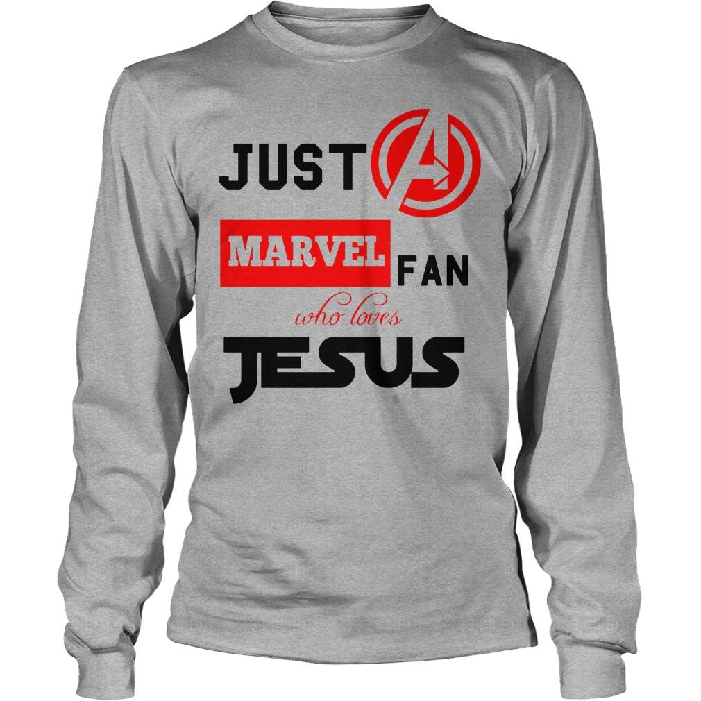 Just A Marvel Fan Who Loves Jesus Longsleeve