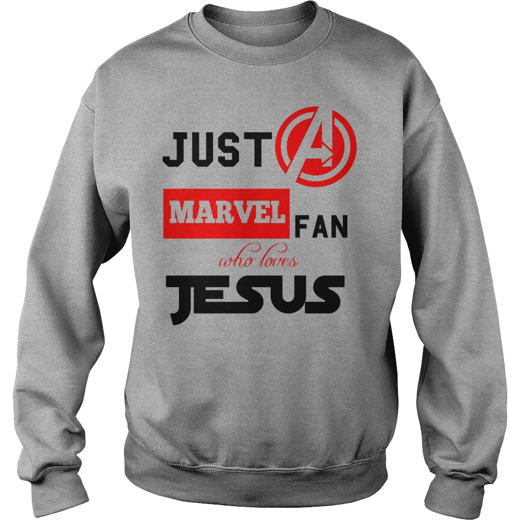 Just A Marvel Fan Who Loves Jesus Sweater