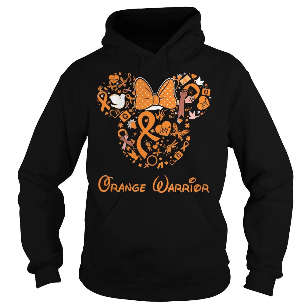 Mickey Mouse Orange Warrior Hoodie