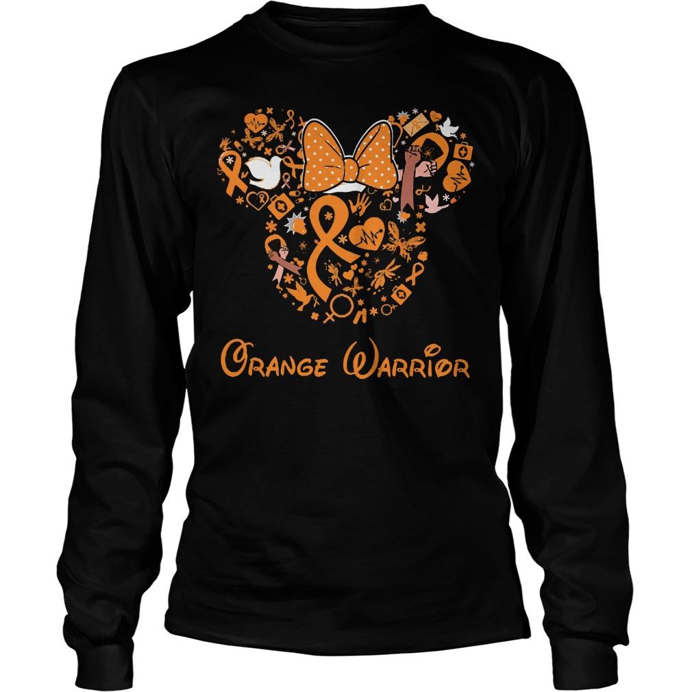Mickey Mouse Orange Warrior Longsleeve