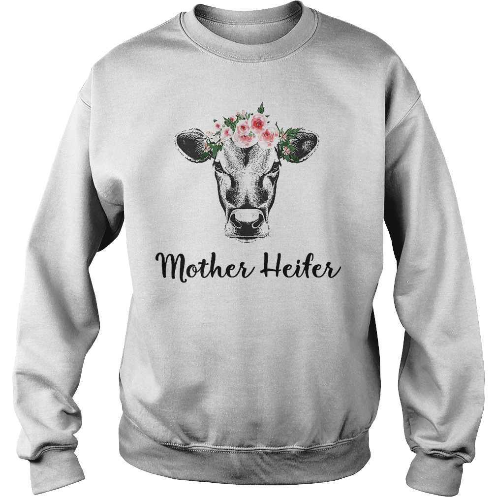 Mother Heifer Cow Flower Sweater