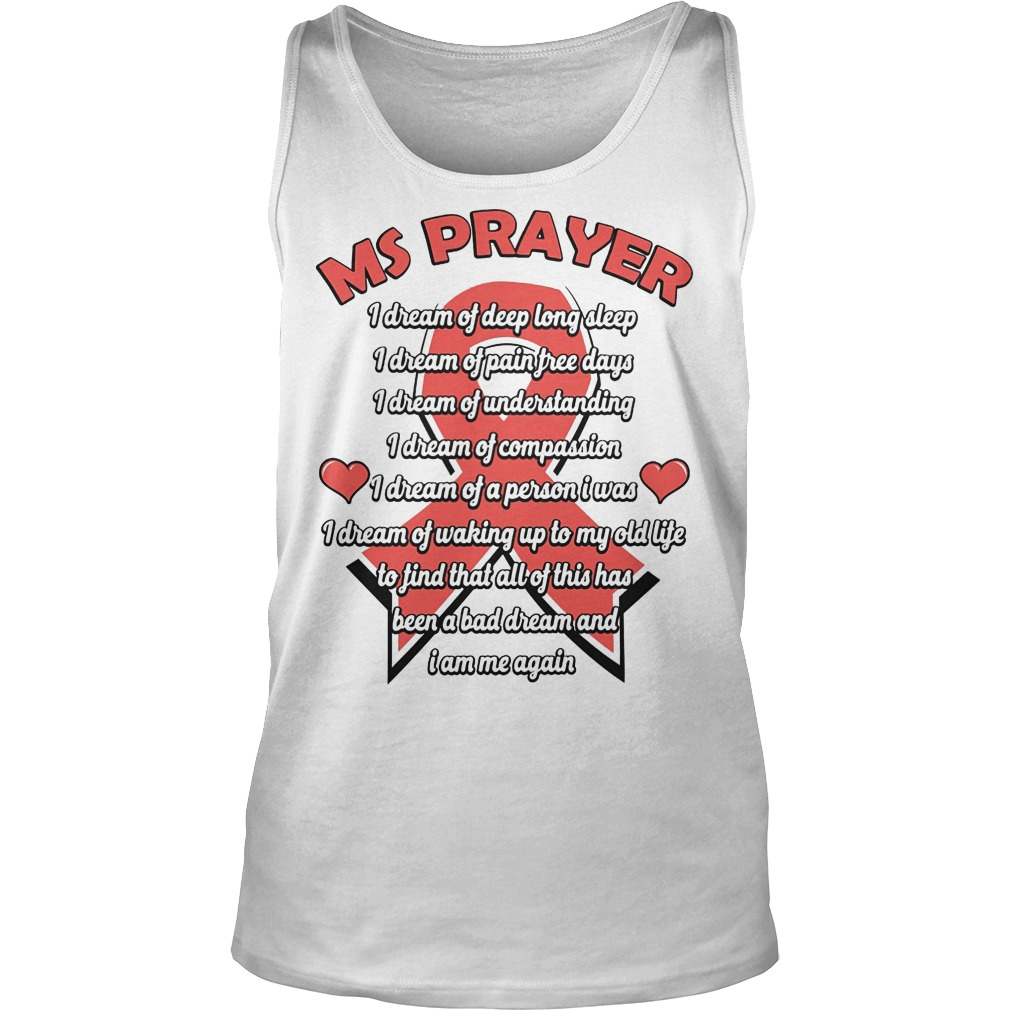 Ms Prayer Breast Cancer Tanktop