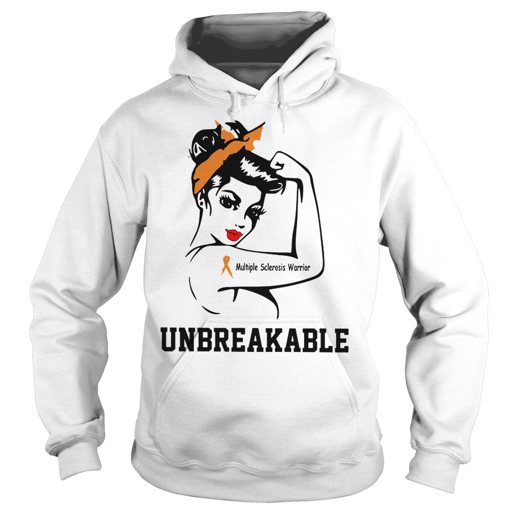 Multiple Sclerosis Warrior Breast Cancer Unbreakable Hoodie