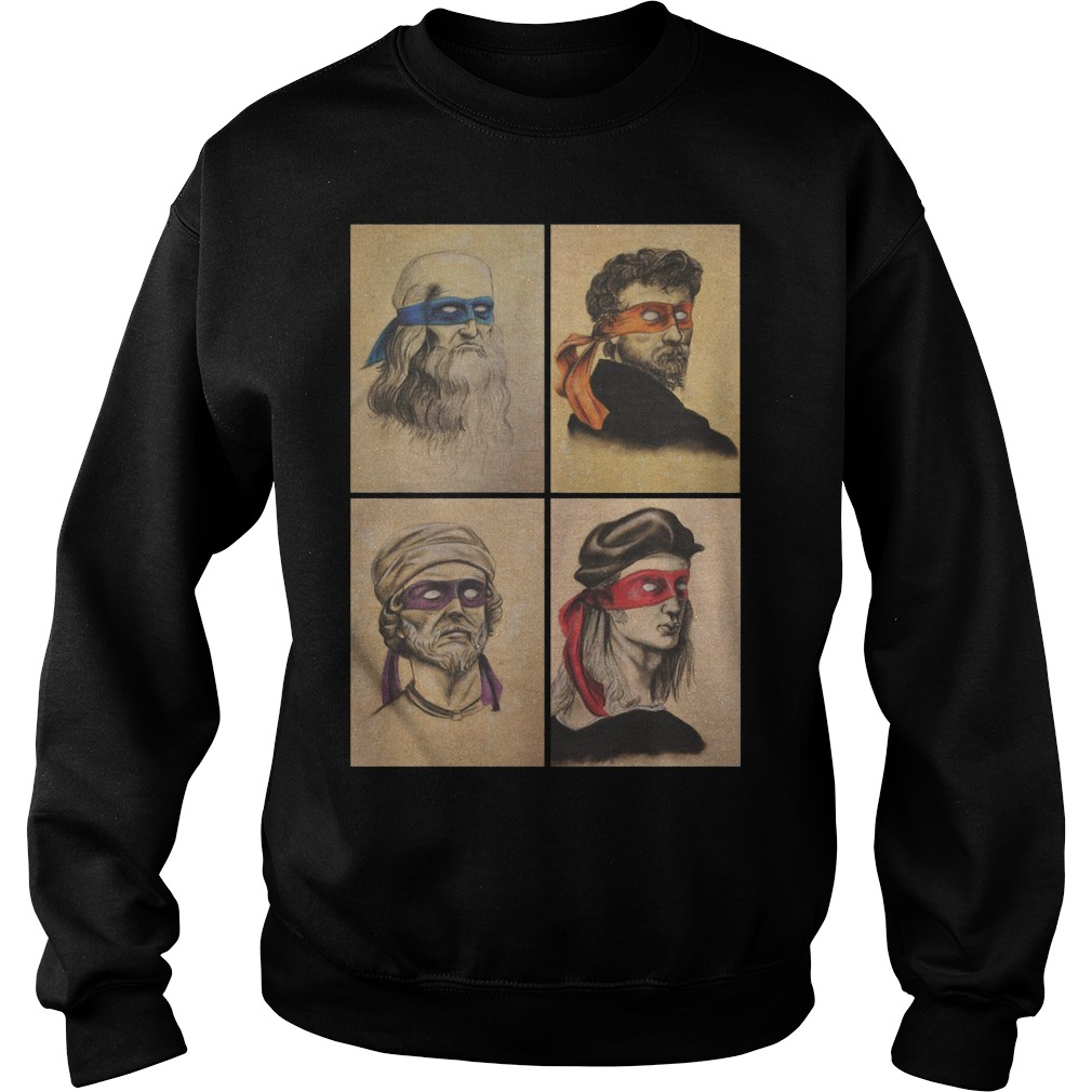 Renaissance Artists Ninja Turtles Donatello Raphael Leonardo And Michelangelo Sweater