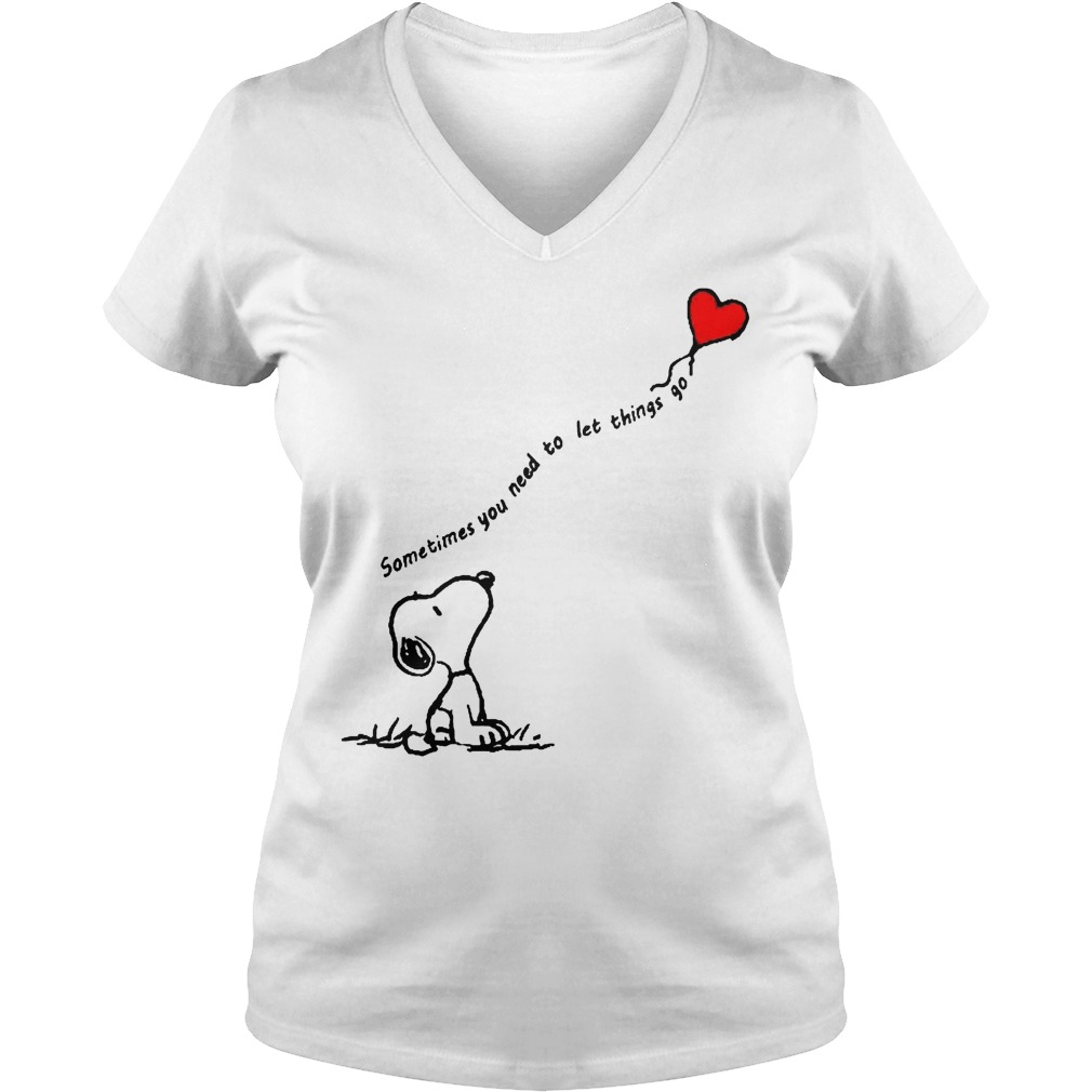 Snoopy Sometimes You Need To Let Things Go V Neck