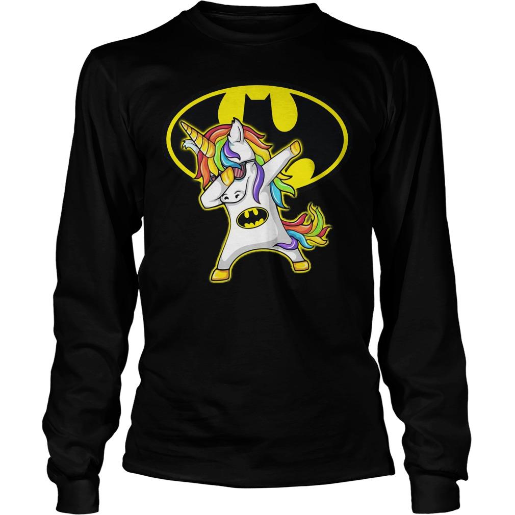 Unicorn Dabbing Batman Longsleeve