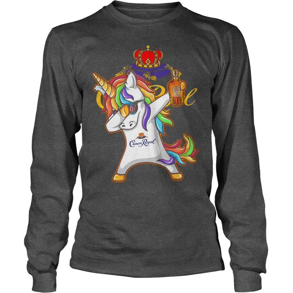 Unicorn Dabbing Crown Royal Wine Longsleeve