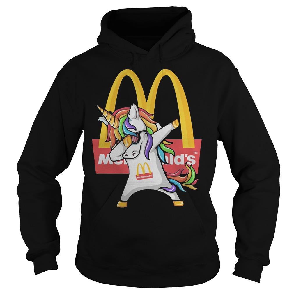 Unicorn Dabbing Mcdonald's Hoodie