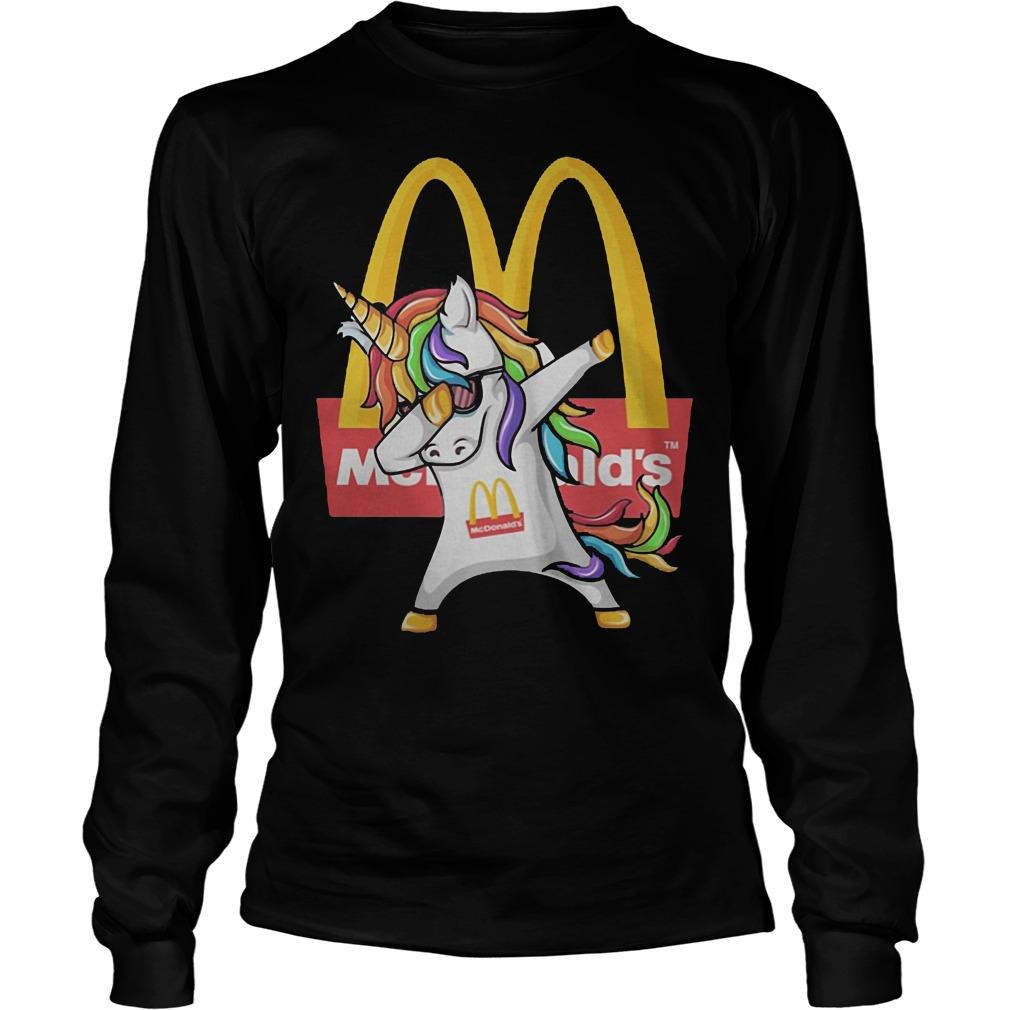 Unicorn Dabbing Mcdonald's Longsleeve