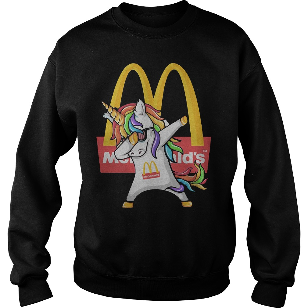 Unicorn Dabbing Mcdonald's Sweater