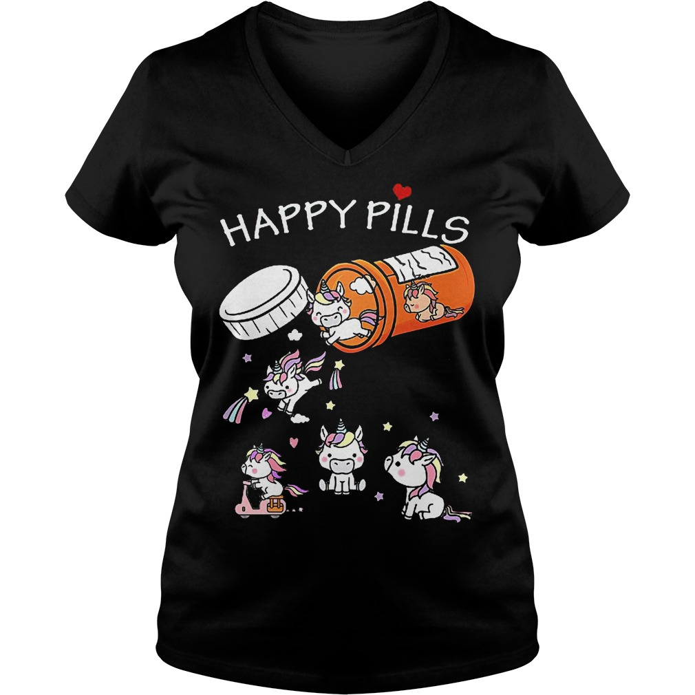 Unicorn Happy Pills V Neck
