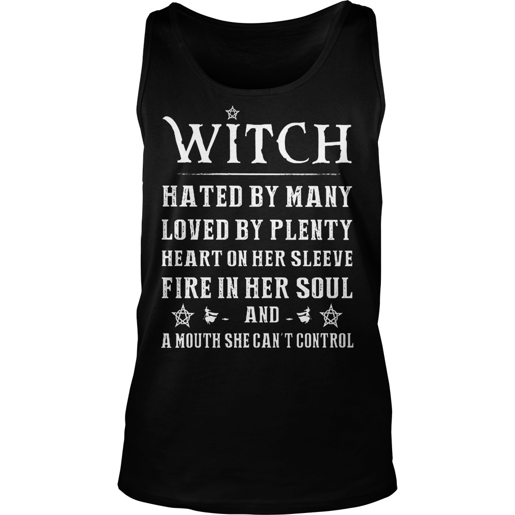 Witch Hated By Many Loved By Plenty Heart On Her Sleeve Tanktop