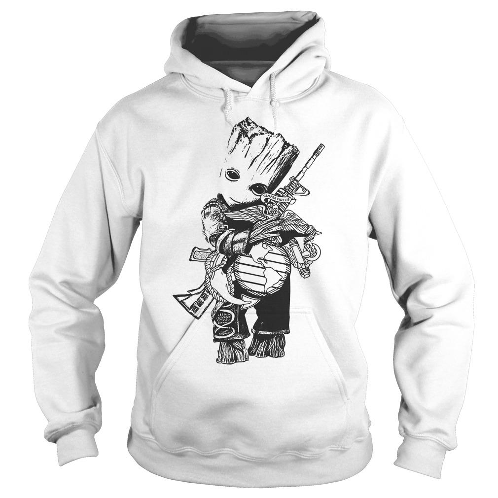 Baby Groot Hug Weapon Hoodie