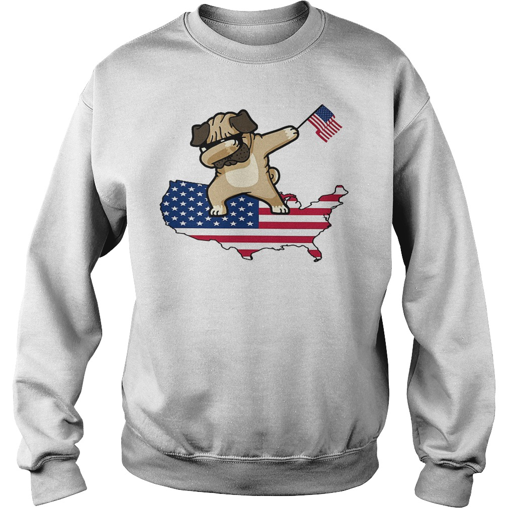 Dabbing Dog Us Flag Sweater