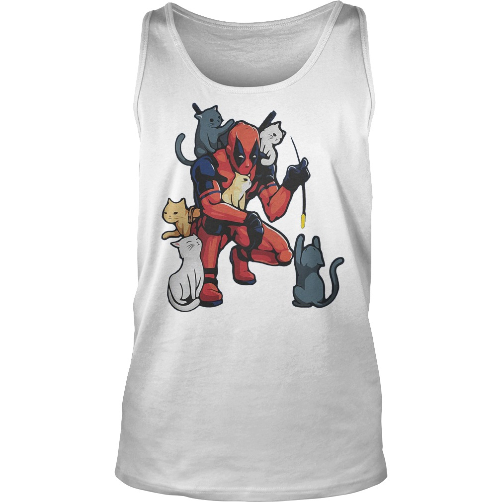 Deadpool With Cats Tanktop