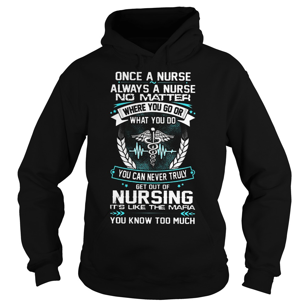 Once A Nurse Always A Nurse No Matter Where You Go Hoodie