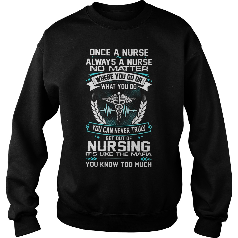 Once A Nurse Always A Nurse No Matter Where You Go Sweater
