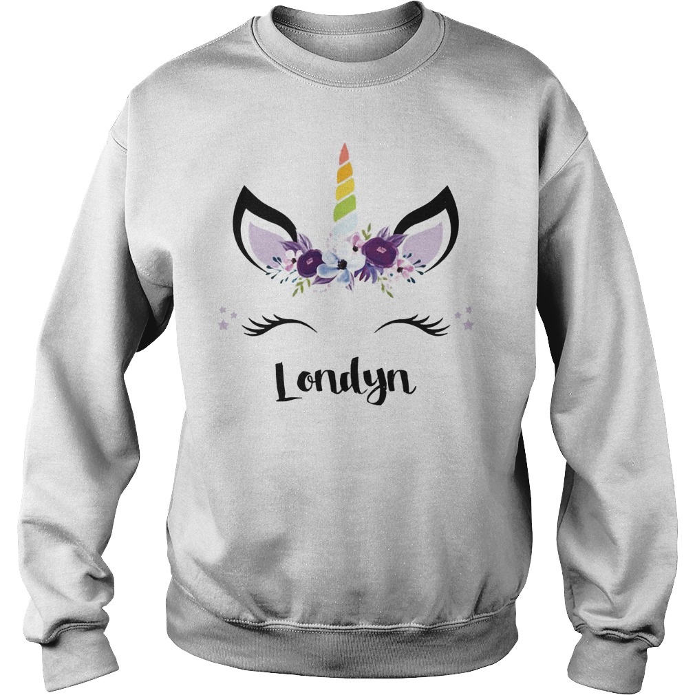 Pink Purple Flowers And Londyn Unicorn Face Sweater