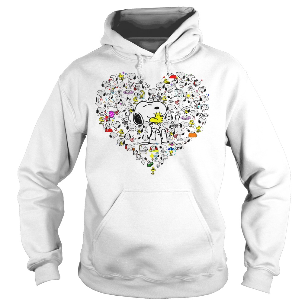 Snoopy With Heart Hoodie