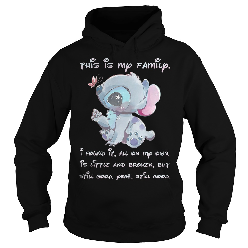Stitch This Is My Family I Found It All On My Own Hoodie