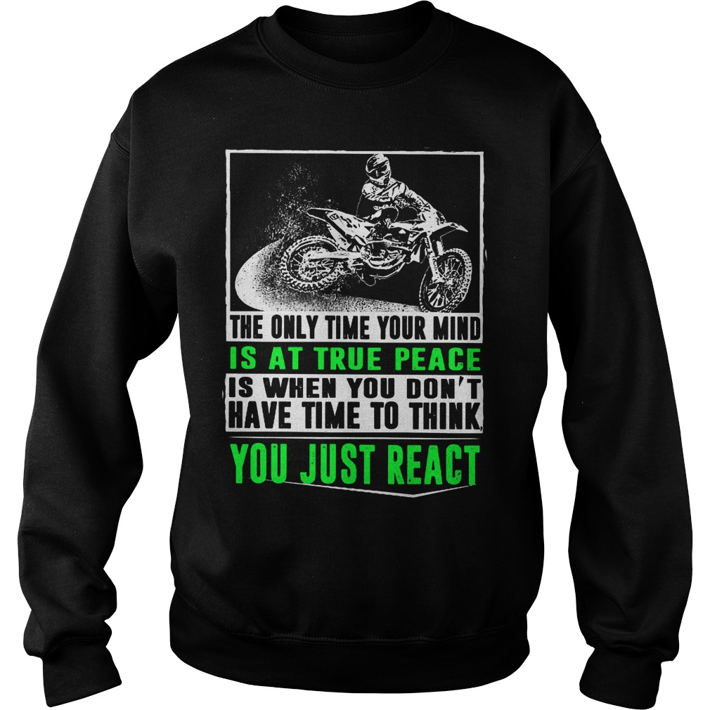 The Only Time Your Mind Is At True Peace Sweater