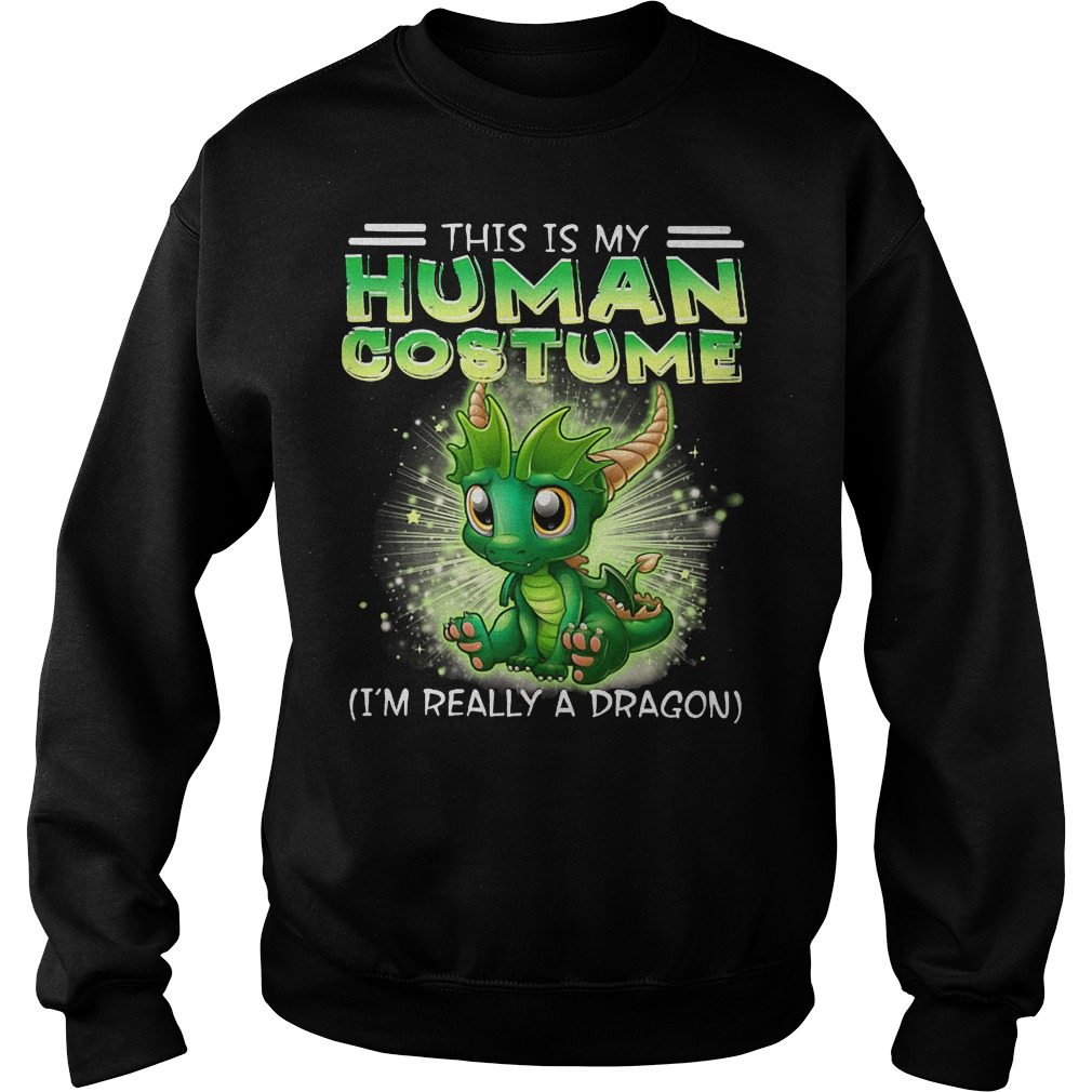 This Is My Human Costume Dragon Sweater