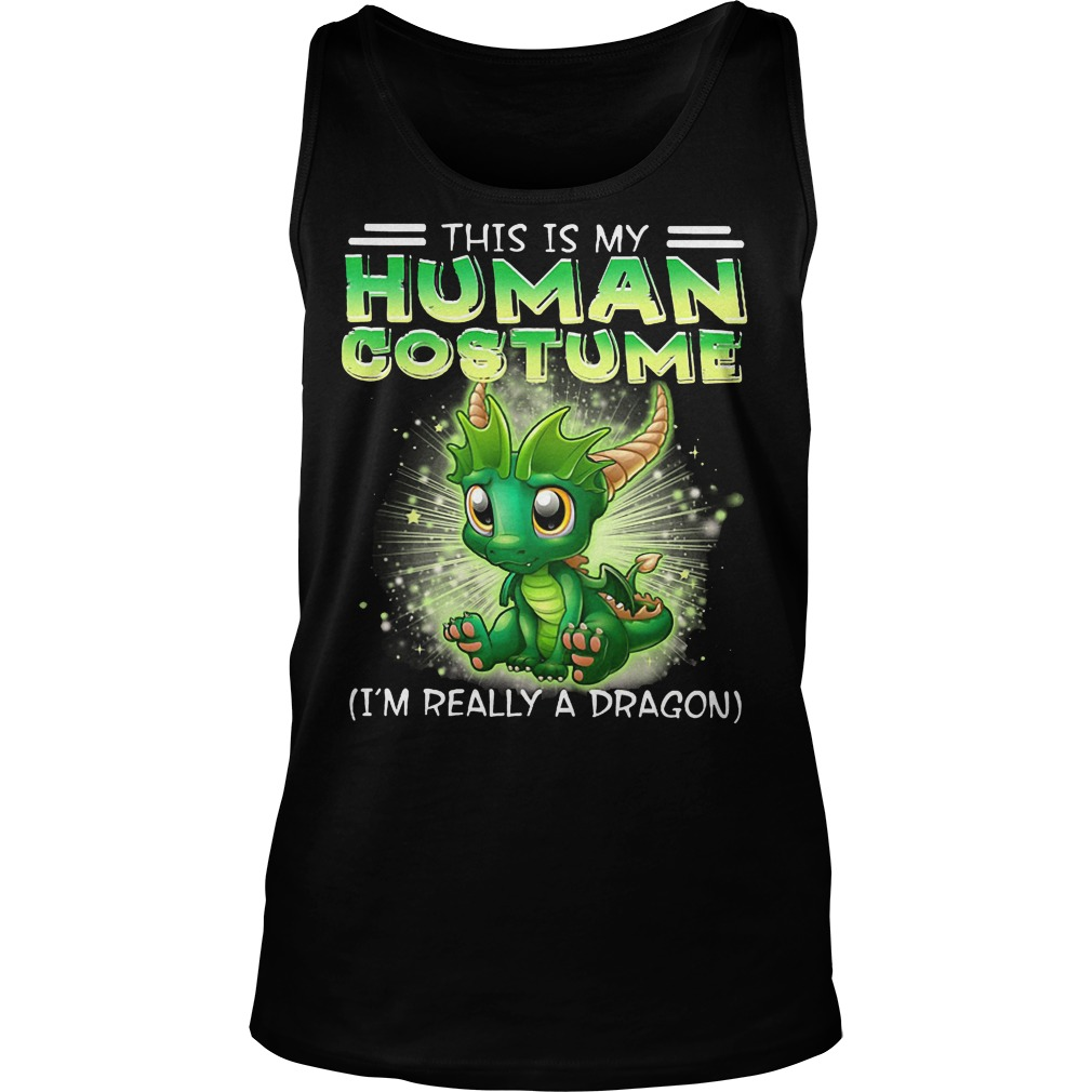 This Is My Human Costume Dragon Tanktop