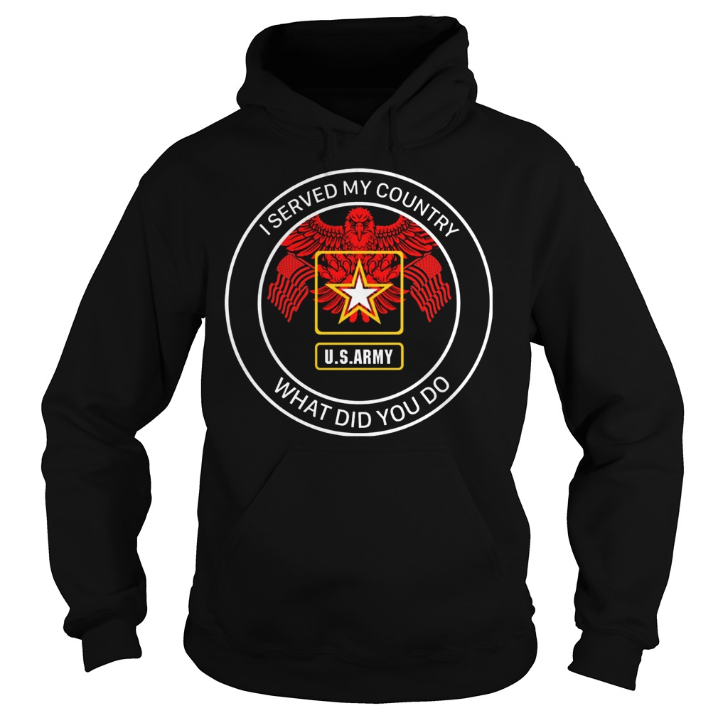 U.s Army I Served My Country Hoodie