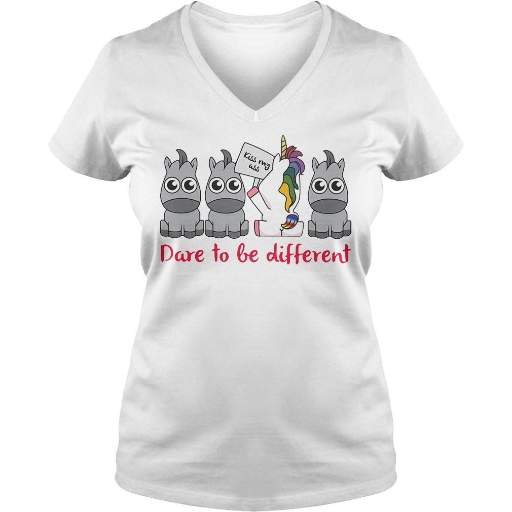 Unicorn Dare To Be Different V Neck