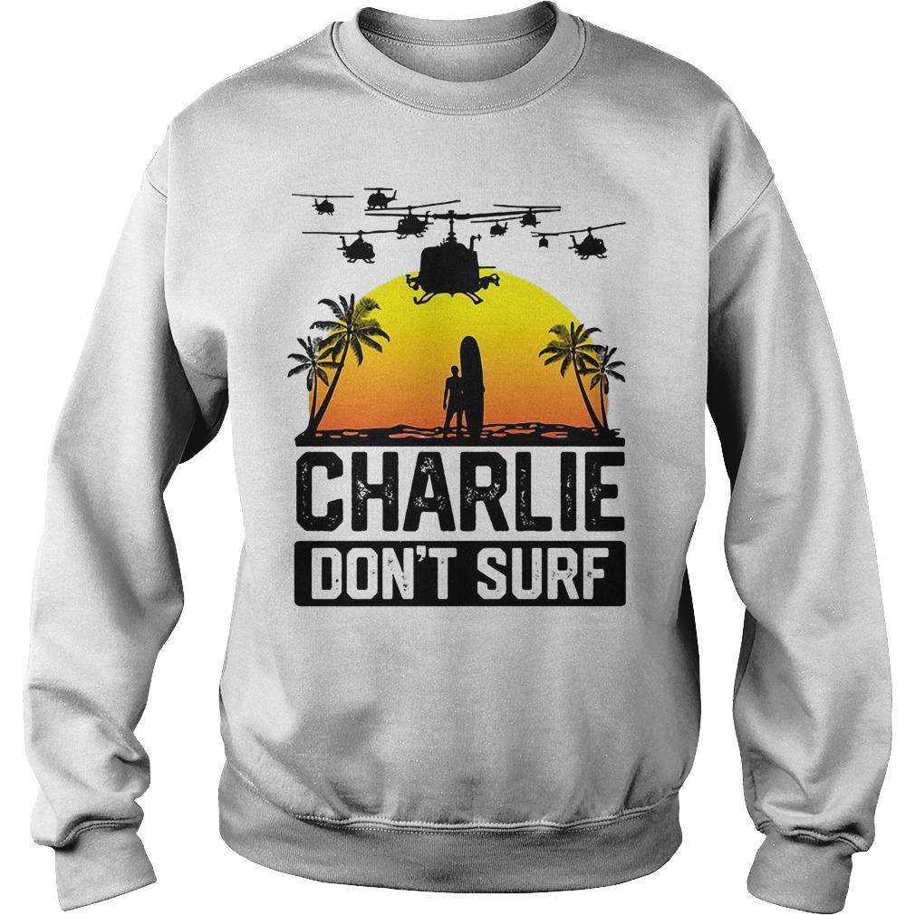 Viet Cong Charlie Don't Surf Vietnam War Sweater