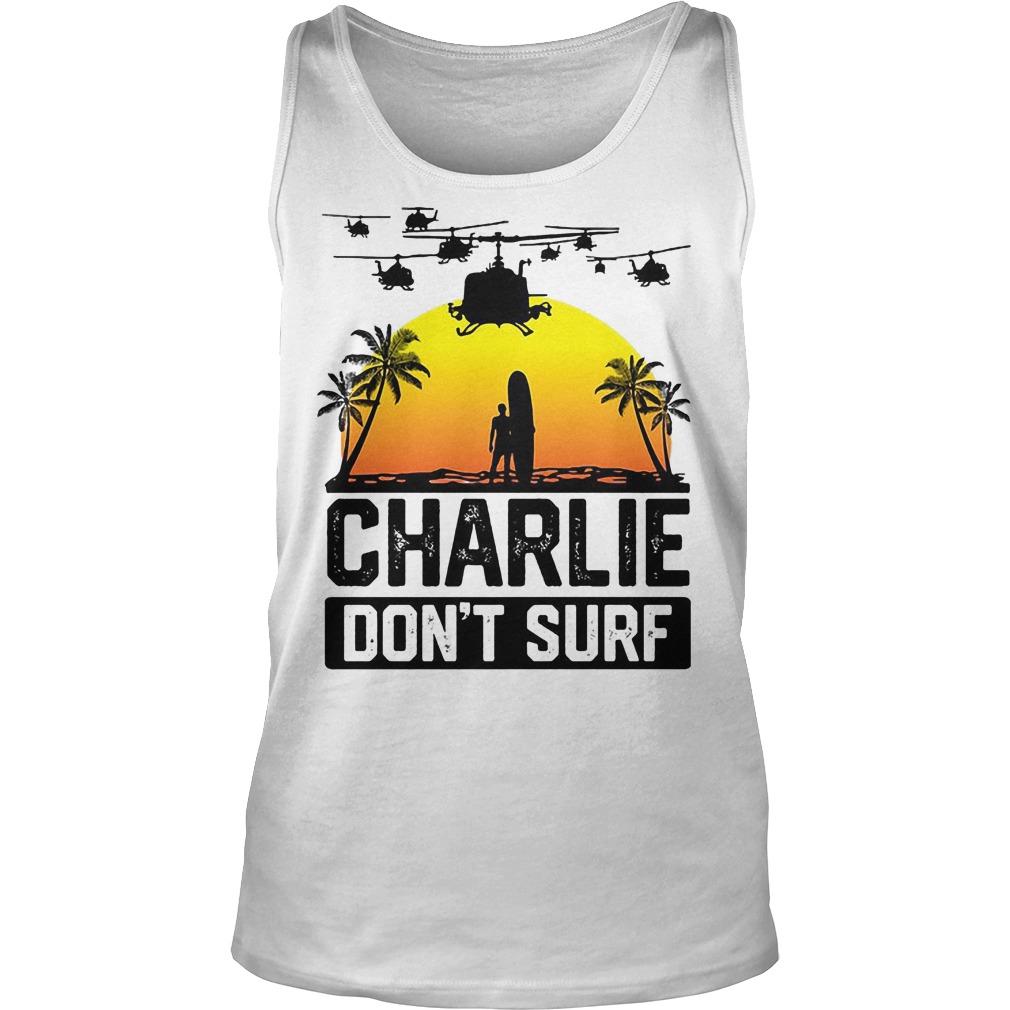 Viet Cong Charlie Don't Surf Vietnam War Tanktop