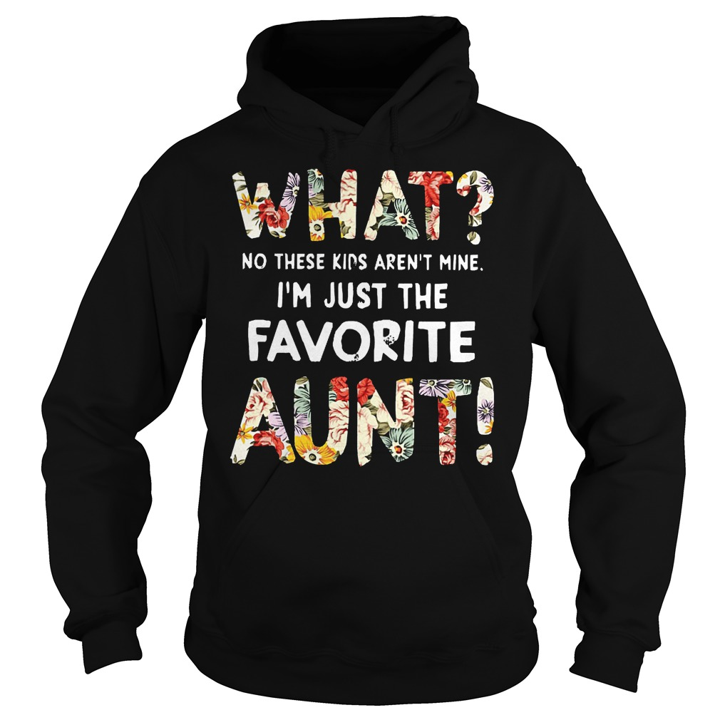 What No These Kids Arent Mine I'm Just The Favorite Aunt Hoodie