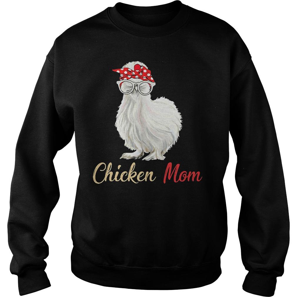 White Chicken Mom Sweater