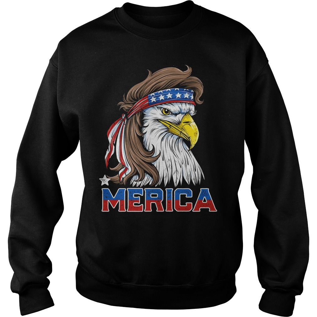 american Flag Merica Usa Eagle Mullet T Shirt 4th Of July Sweater