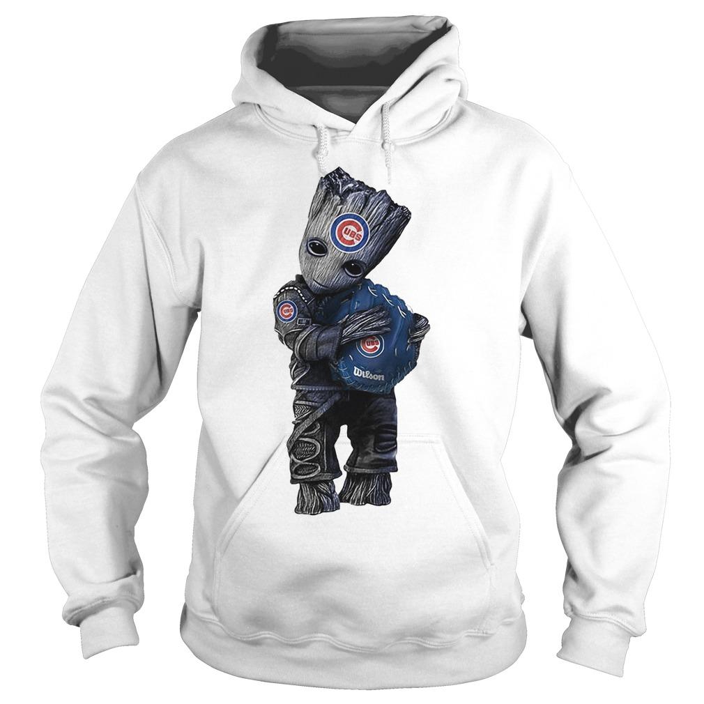 Baby Groot Hug Chicago Cubs Hoodie