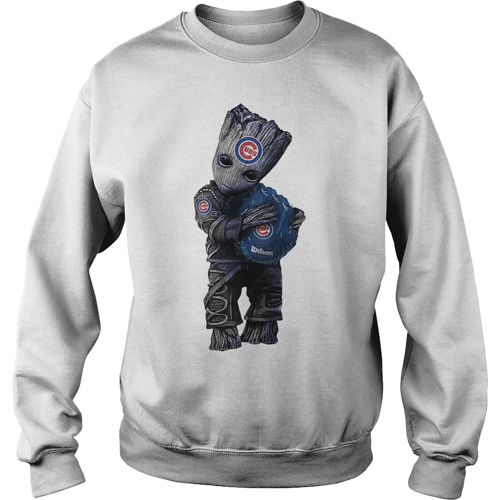 Baby Groot Hug Chicago Cubs Sweater