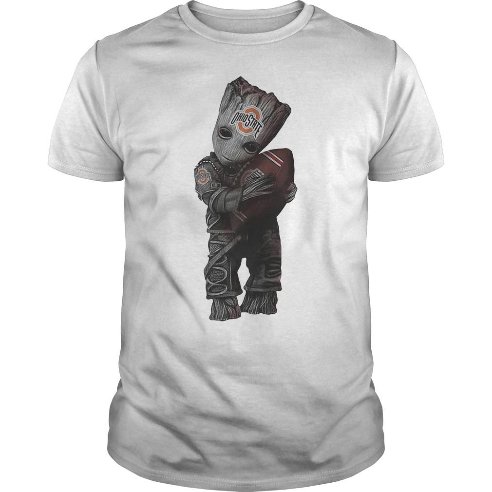 Basketball Baby Groot Hugs Ohio State Buckeyes Shirt