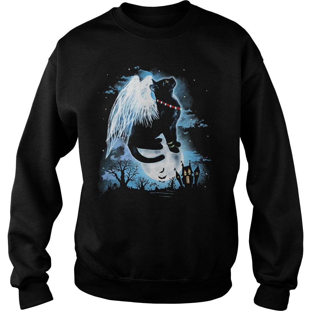Black Cat Wings Sweater